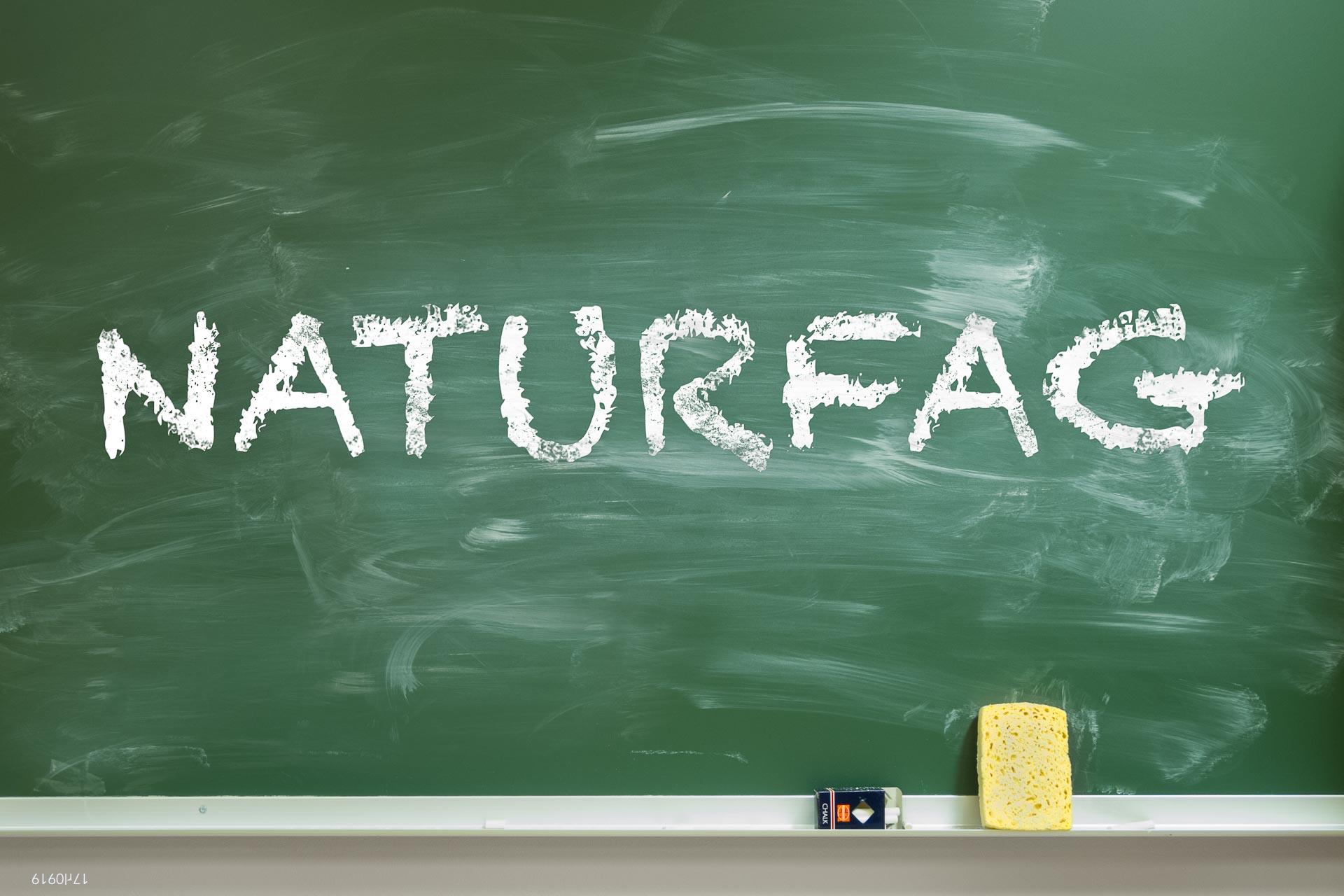 «Naturfag» på tavla