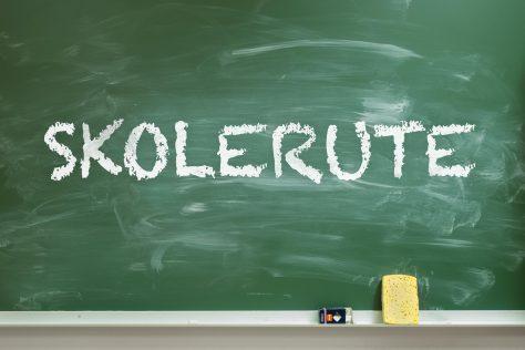 «Skolerute» på tavla