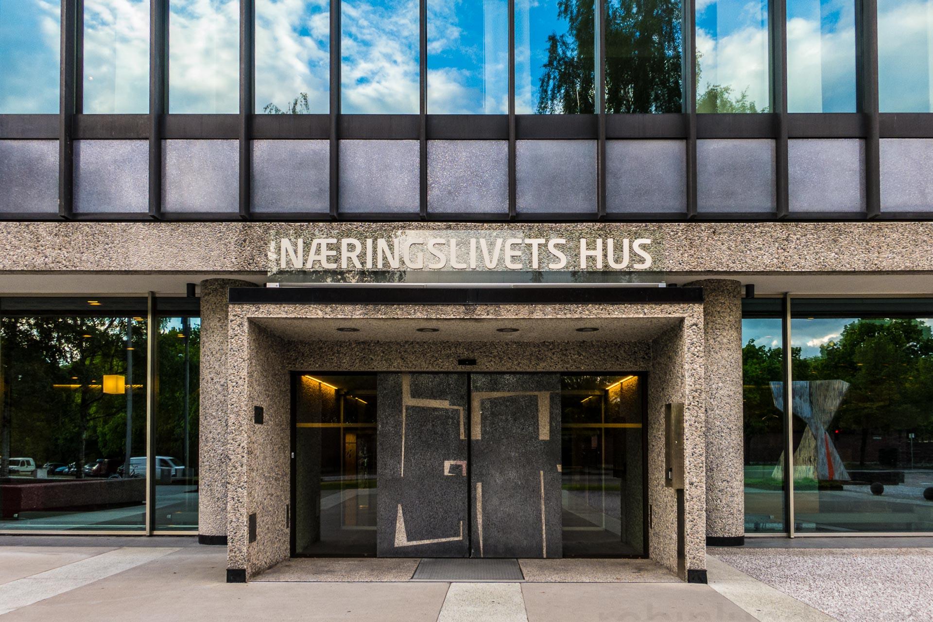 NHOs «Næringslivets Hus» i Oslo huser en rekke av næringslivets foreninger.