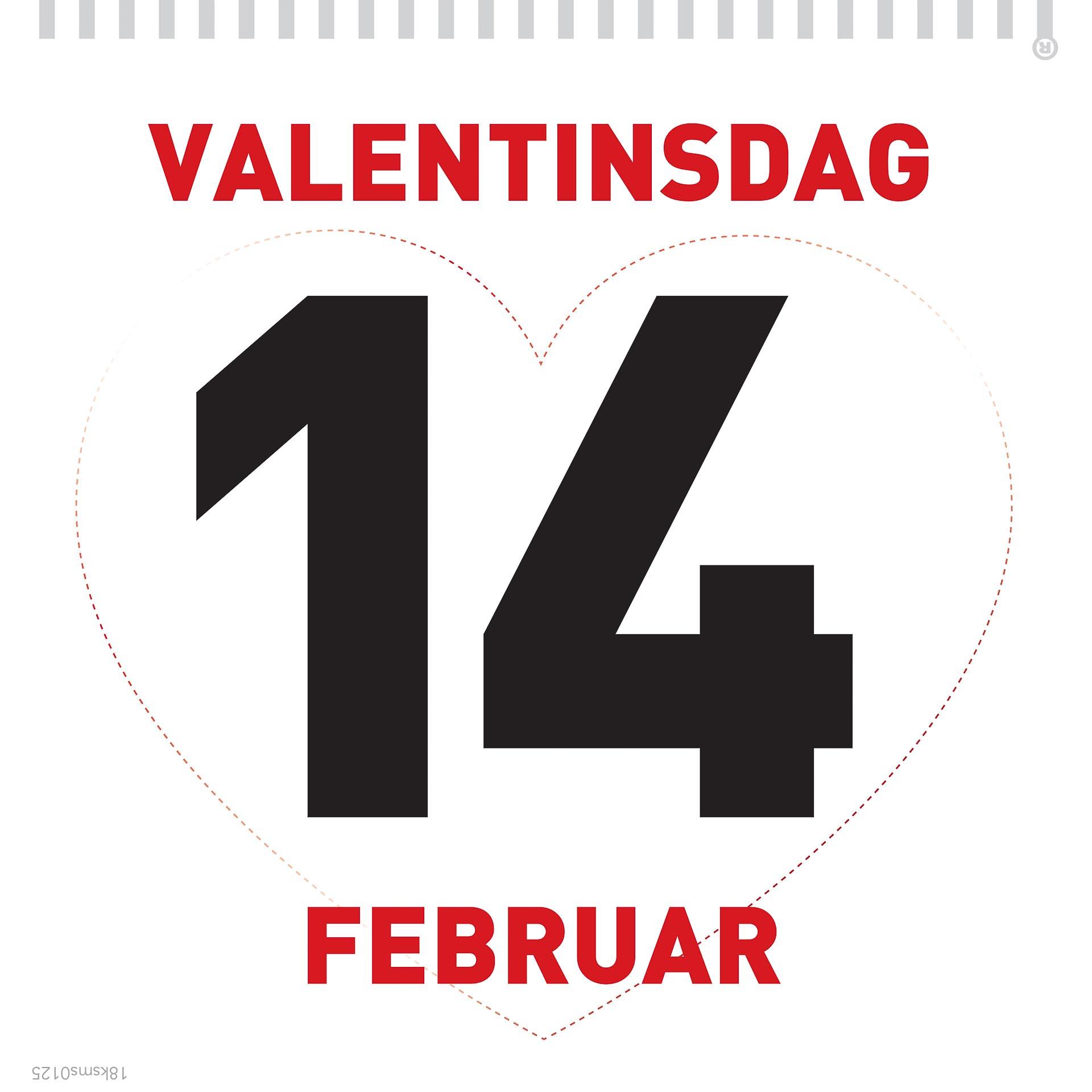 Valentinsdagen på kalenderen