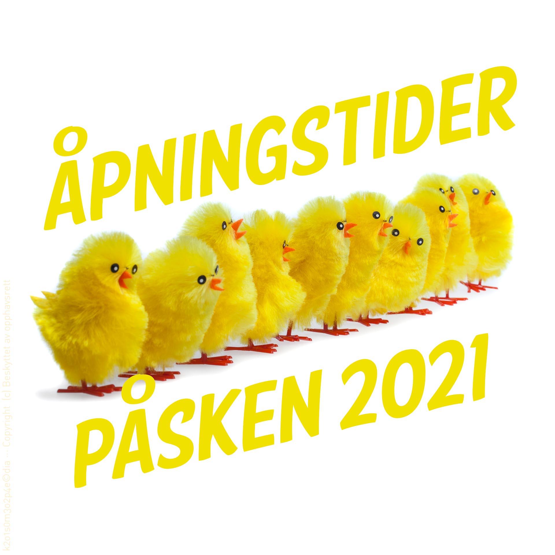 Åpningstider påsken 2021
