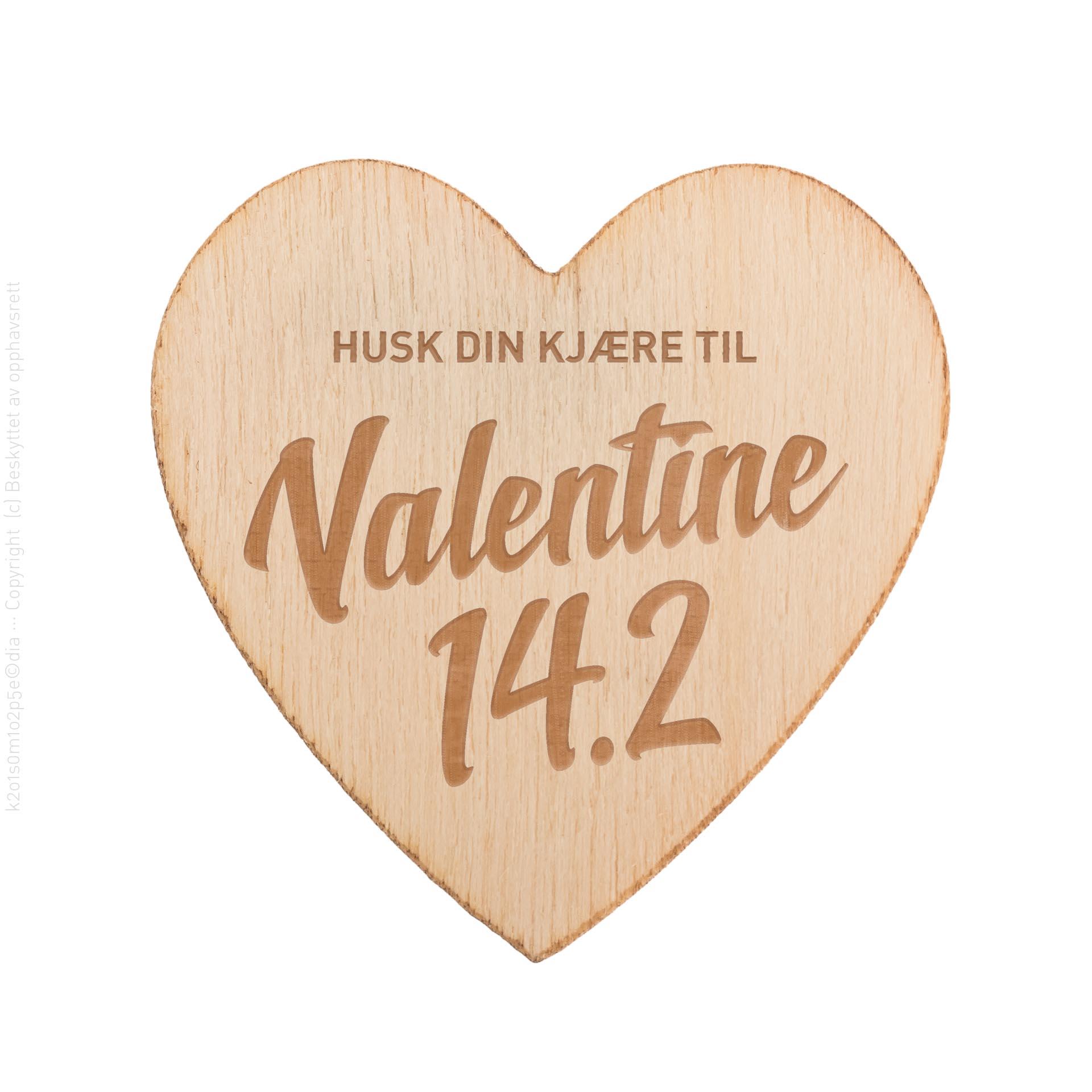 Husk din kjære til Valentine 14.2