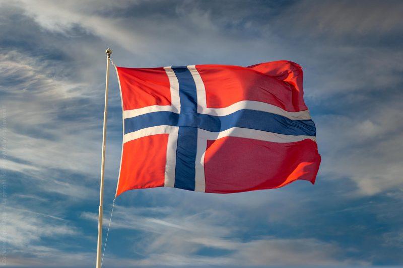 Sol på norsk flagg