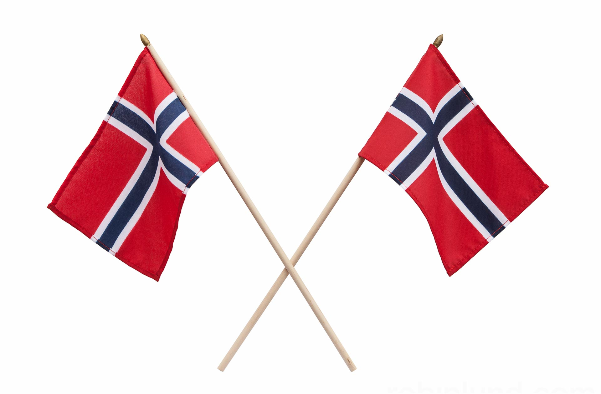 To norske flagg