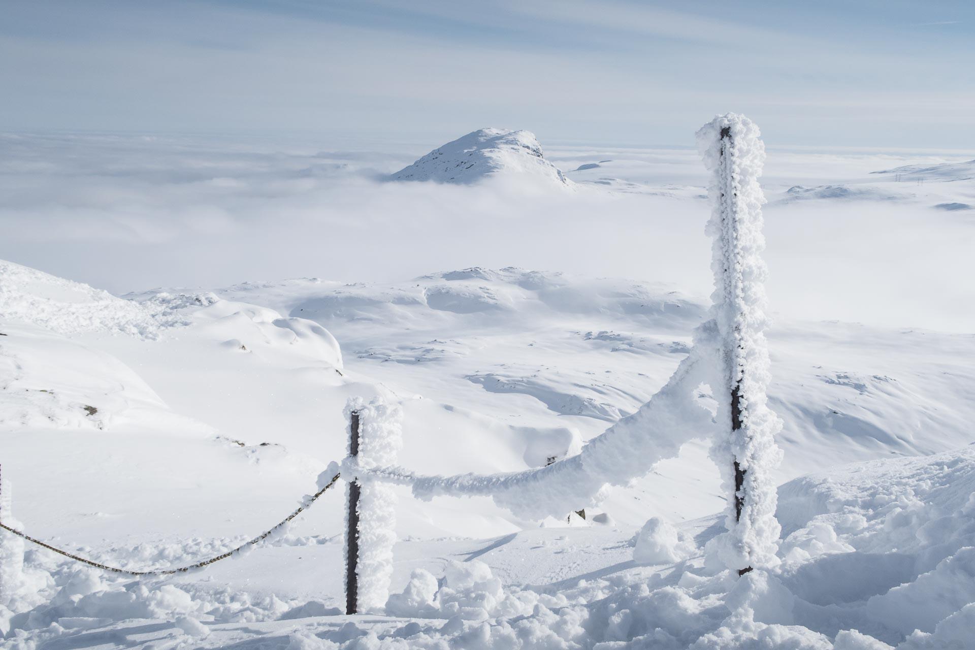 Systerskardfjellet (1484 moh.) i Hemsedal sett fra Totten II.